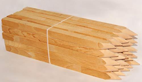 25 pièces. Piquets en bois de hêtre 50cm pour arpentage et jardin poteaux en bois