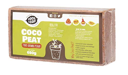 650g (9L) Fibre de coco pressé   Sans tourbe   100% pure   Substrat de noix de coco pour terrarium   Terre de coco pour…