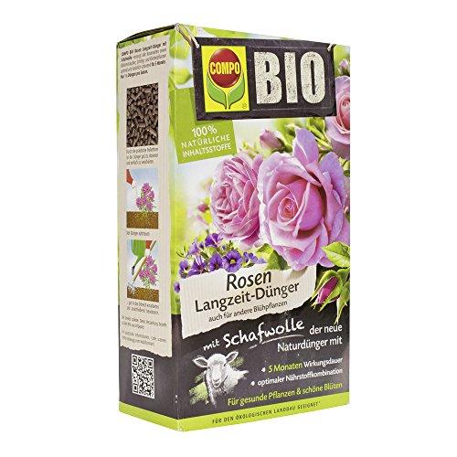 Compo Bio Engrais pour rosiers et Plantes Florales, à la Laine de Mouton, Effet Longue durée, Engrais Naturel et 100…