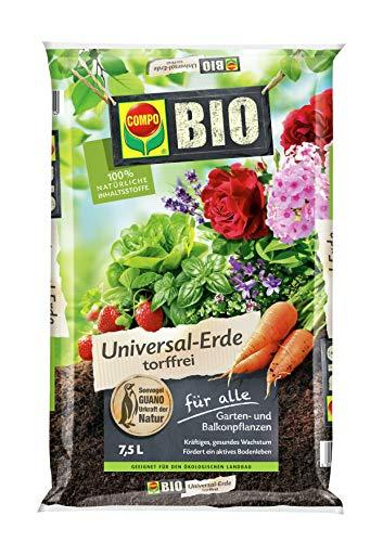Compo Bio terreau Universel sans Tourbe, 7,5 litres Noir