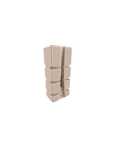 EDA Plastiques – Récupérateur d'eau de pluie – Récupérateur d´eau 310L – RECUP´ECO décor tressé BEIGE