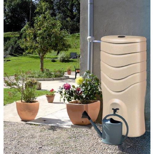 EDA Plastiques – Récupérateur d'eau de pluie – Récupérateur d'eau 350 L RECUP'O Beige