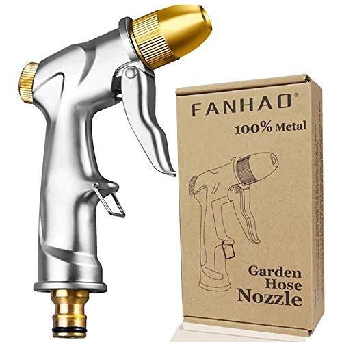 FANHAO Pistolet d'arrosage métal Pistolet Arrosoir, bouton de contrôle de débit facile, Pulvérisateur de Jardin à haute pression professionnel, Puissant pour Lavage de Voiture, Arrosage de Jardin