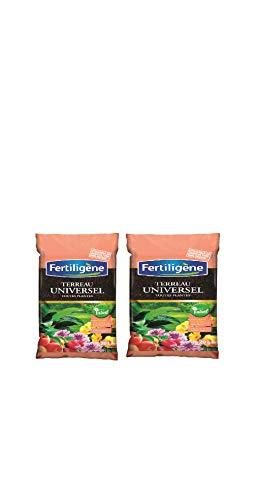 FERTILIGENE LOT 2 Sacs de terreau Universel 20 l Toutes Plantes utilisable en Agriculture Biologique FUNIB20
