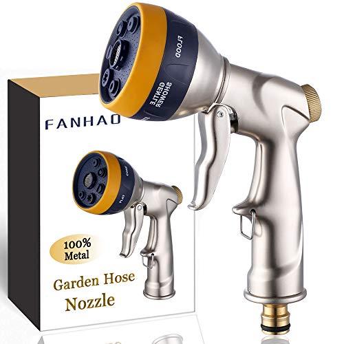 Fanhao Pistolet d'arrosage Metal Buse de pulvérisation de tuyau en métal robuste Modèle de pulvérisation à 7 voies Buse d'arrosage de nettoyage de pulvérisateur de tuyau de , arrosage de rue de jardin