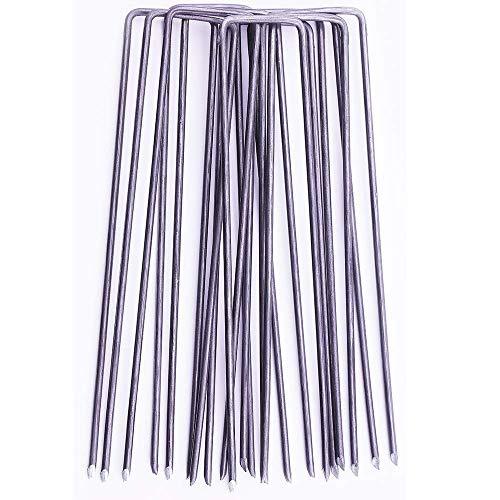 GardenPrime 200 Piquets de Fixation pour Jardin Premium en Forme de U 2,8 mm pour la Fixation des Tissus Anti Mauvaises…