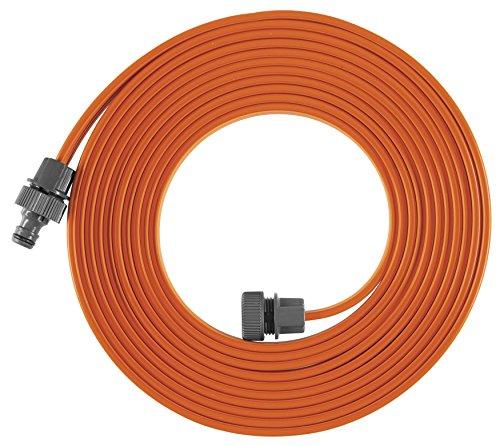 Arroseur Souple Gardena: Arroseur à Pulvérisation pour Massifs et Surfaces Étroits, 7.5 M, Orange & Nécessaire de Dérivation en Y pour Arrosage 13 mm (1/2″)/15 mm (5/8″): Raccord de Dérivation