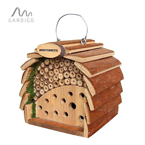 Gardigo Hôtel à Insectes en Bois Abri Naturel Bambou Refuge pour Hibernation Nidification Cabane à Coccinelle et…