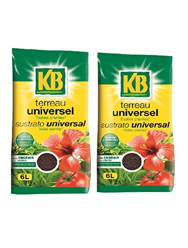 KB Terreau Universel Toutes Plantes lot 2 Sacs 6l KBUNI6