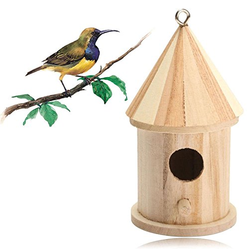 Kicode Nichoir en bois pour nichoir Accessoires Approvisionnement maison Oiseaux de jardin Extérieur en bois