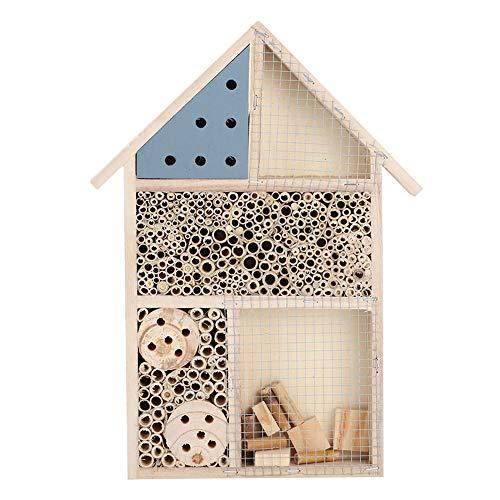 Lecxin Maison des Insectes, Maison en Bois d'abeilles d'insectes en Bois Durable Salle de Punaise en Bois hôtel abris…