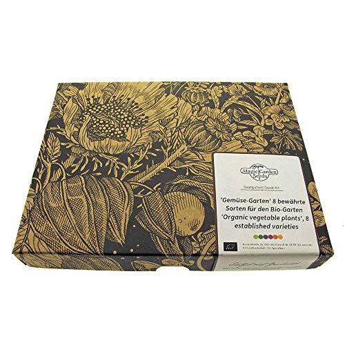 Magic Garden Seeds Variété de légumes (Bio) – kit Cadeau de graines avec 8 variétés de légumes Bien éprouvés pour Le Jardin Organique