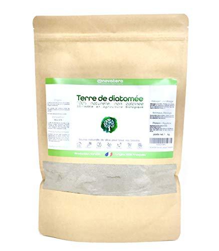 NOVATERA Terre de Diatomée 100% Naturelle – Sachet Zip 1 kg – Garantie Origine France – Ultrapure – Formats 0,3 à 25 kg…