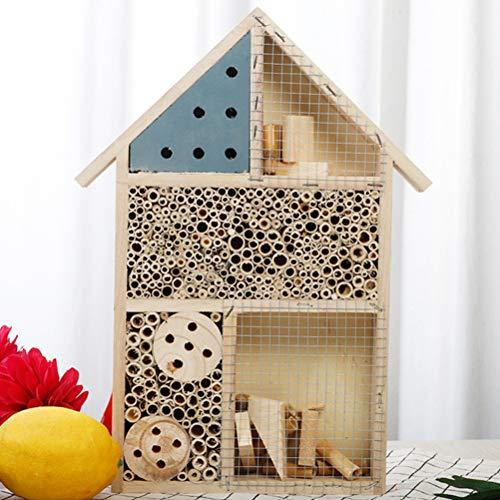 Oyria Maison écologique en Bois d'insecte d'hôtel d'insecte, 25 x 35 x 4 cm Insecte en Bois Naturel Maison Jardin Abri…