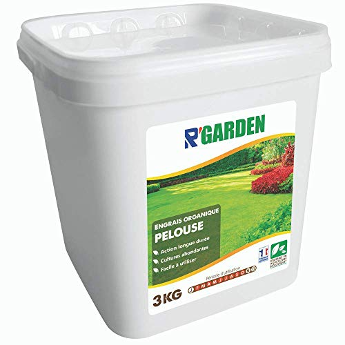 R'Garden | Engrais Organique Pelouse | Engrais Ecologique | Fertilisant Naturel | Nourrit en Profondeur | Facile d'Utilisation | 3KG