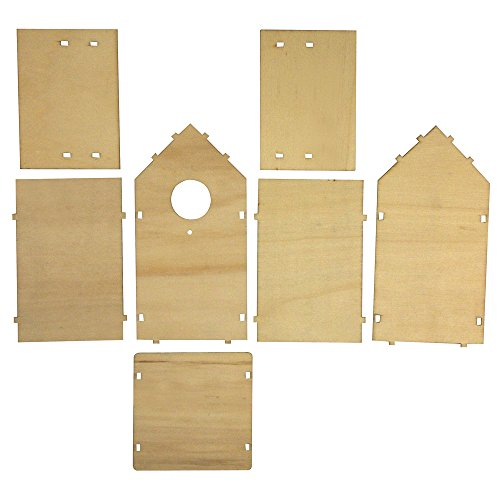 Rayher 62224000 bauset nichoir à oiseaux en bois certifié fSC mix credit x 10 5 x 11 17 cm 7 pièces sB sac