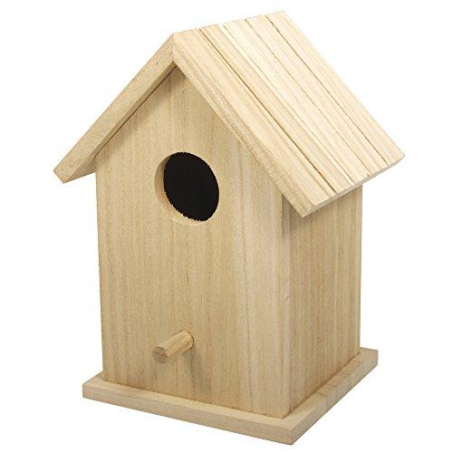 Rayher boîte 62291000 nichoir à oiseaux en bois fSC mix credit 12 5 x 10 x 17 cm 2 pièces