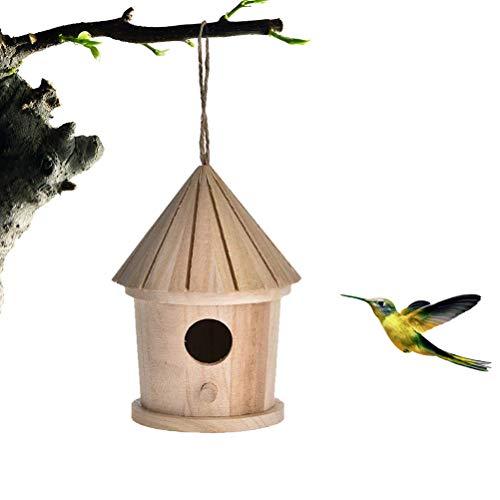 Fangteke Nichoir en Bois Hôtel accroché de Maison d'oiseau de nouveauté, nid d'oiseau en Bois accrochant la Cage en Bois Normale d'oiseau de Lieu de Repos en Bois pour des Oiseaux