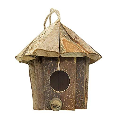 SODIAL Maison en Bois Nid D'Oiseau Fait à la Main, Fournit Un Abri Contre Le Temps Froid, Respectueux de l'environnement…