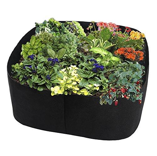 Sac de plantation noir respirant pour jardinière, jardinière de légumes, sac de culture pour balcons, jardin 60 x 60 cm Noir