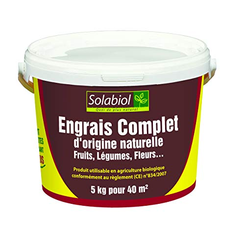 Solabiol SOCOMP5 Engrais Complet – Fruits, Légumes, Fleurs | Seau 5 Kg Utilisable en Agriculture Biologique