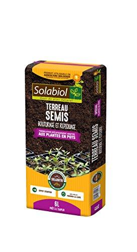 Solabiol TERSEMI6 Terreau Semis Ultra Fin, 6 liters L, Marron, 21 x 50 x 5 cm