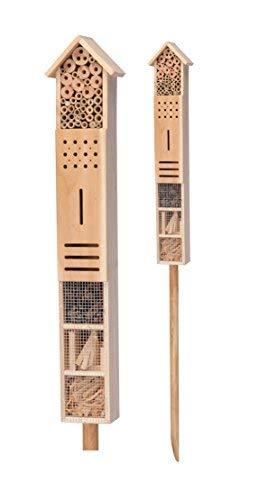 Spetebo Hôtel à insectes XXL avec piquet 79 cm x 15 cm x 10 cm