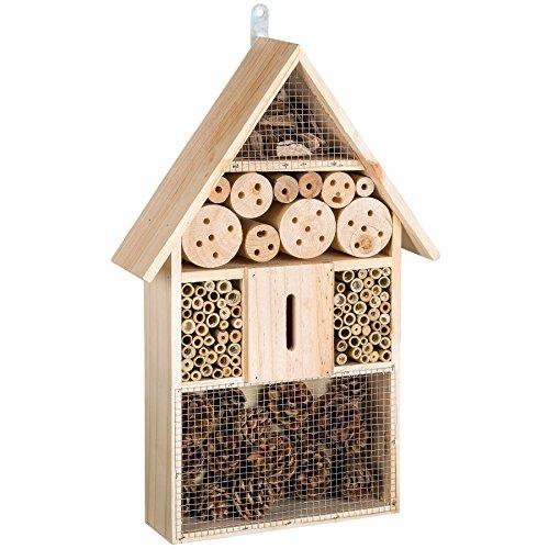 TecTake XXL Hôtel boîte à insectes 48 cm maison des insectes en bois jardin balcon