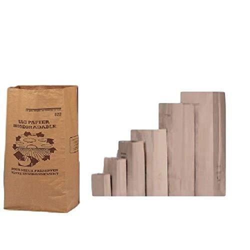 lot de 10 Sacs 6 Litres 1 FEUILLE déchets verts et organiques en papier kraft biodégradable compatible compost , petit…