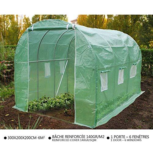 Serre de jardin Tunnel serre de jardin | Serre de jardin tunnel 6m2 en acier galvanisé | Serre de jardin maraichère…
