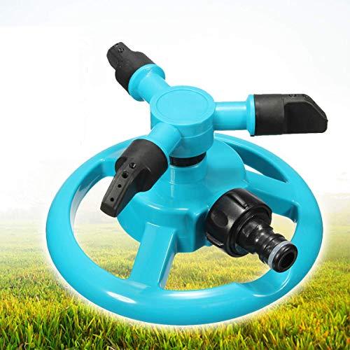 king do way Arroseur Rotatif avec Raccord Rapide de Tuyau 1/2, Automatique Arrosage Irrigation pour Gazon Pelouse Jardin 360 Degrés de Rotation (Arroseur Rotatif)