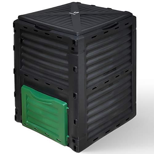 VOUNOT Composteur de Jardin 300L Qualité Supérieure Bac Composteur pour Jardin Déchets Bac à Composte en Polypropylène…