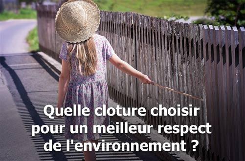 Clôture écologique : quel est le meilleur choix pour l'environnement ?