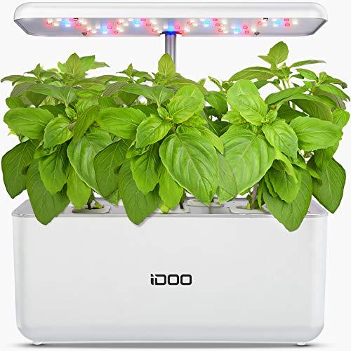 iDOO Potager Hydroponique D'Intérieur, Smart Potager Herbes avec éclairage LED, Jardin Autonome Intelligent pour Cuisine…